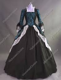 Ball Gown Halloween Costume Renaissance Wiccan Ball Gown Reenactment Halloween Costume