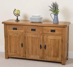 sideboard cabinet cotswold rustic solid oak large sideboard oak furniture king