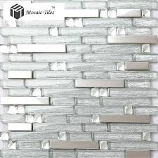 Stainless Steel Tiles For Kitchen Backsplash Tst Crystal Glass Tile Crystal Glass Tiles Silver Strip Stainless