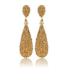 golden ear rings images Buy moonstruck champagne diamond golden drop earrings for women jpg
