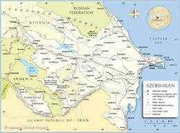 Political Map Of East Asia by Political Map Of Azerbaijan Nations Online Project