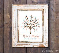 wedding guest book fingerprint tree custom love birdies 16
