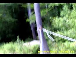 Backyard Zip Line Without Trees by Demonstration Of My Zip Line Brake Youtube