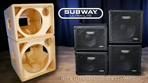 low down sound bass cabinets mesa subway ultra lite 1x12 1x15 official cab demo comparison