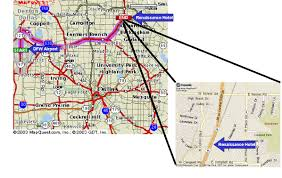 Map Of Dallas Fort Worth Airport by Hotel Airline Rental Car Driving Directions