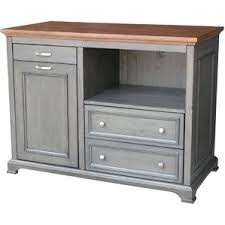 Just Cabinets And More by Bristol Kitchen Island With Wood Top By Just Cabinets Furniture