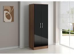 Walnut And Black Gloss Bedroom Furniture   Door Wardrobe In - Edinburgh bedroom furniture