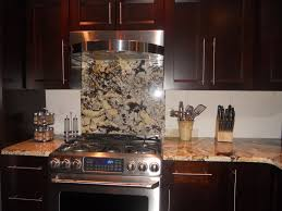 Backsplash Tile For Kitchen Ideas by Kitchen Ideas Oak Wood Kitchen Cabinet With Brown Marble