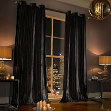 Eyelet Curtains 90 X 72 Kylie Minogue Iliana Eyelet Lined Curtains 90 X 72 Inches Black