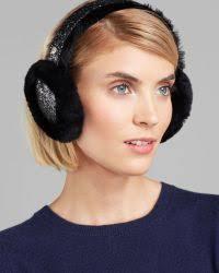 ugg earmuffs sale ugg alloway glitter earmuffs in black lyst
