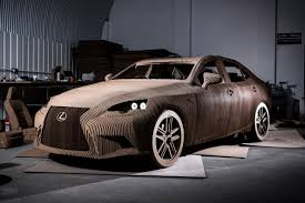 lexus hoverboard principle lexus u0027 cardboard car full scale origami is saloon revealed auto