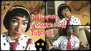 halloween wooden doll makeup tutorial youtube