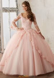 coral pink quinceanera dresses vizcaya dress 60015 peachesboutique
