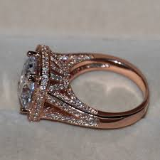 Rose Gold Wedding Rings by Wedding Rings Silver Engagement Ring With Gold Wedding Band
