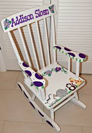 Ladybug Rocking Chair Childrens Hand Painted Rocking Chair Artworks By Amy