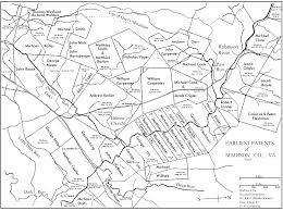 Salem Virginia Map by Captain John Huddleston Of The Bona Noua