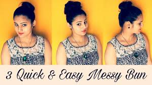 Hairstyles Easy And Quick by 1 Minute 3 Quick And Easy Messy Bun For Everyday Simple And