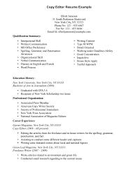 Copy Of Resume Template Resume Exles Sle 1 Larger Image Resume