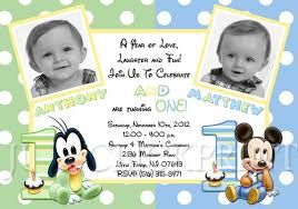 twins birthday invitation wording choice image invitation design