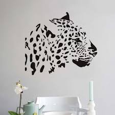 compare prices on jungle animals decor online shopping buy low wholesale pvc removable jungle animals wall stickers for kids rooms tiger head living room creative wall