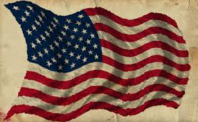 Waving American Flag Patriotic Old Worn Waving American Flag Ragged Old Flag Stars