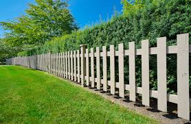 Garden Fence Types - picket fence yard with traditional design style also light brown