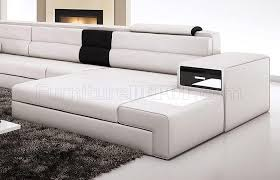 White Sectional Sofa Sectional Sofa In White Bonded Leather By Vig Furniture