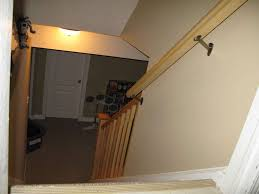 basement stairs railing home design styles