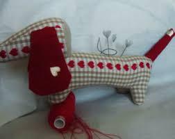dachshund pincushion etsy