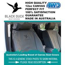 prado 150 7 seat gxl r u0027r bench black duck canvas seat covers 4wd