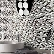 kitchen backsplash stickers amazon com art3d peel n stick kitchen backsplash wall tile vinyl