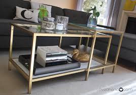 gold side table ikea glass gold coffee table ikea nafis home design ideas