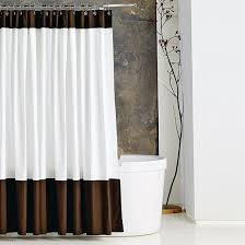 White And Brown Curtains White And Brown Shower Curtain Shower Ideas