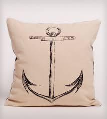 anchor organic cotton pillow home decor u0026 lighting ortolan