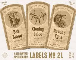vintage halloween labels digital apothecary label old viintage