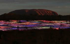 field of light uluru uluru in a new light