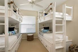 Four Bunk Bed Amazing Beachstyle White Bedding Collection Of Rope Bunk Bed