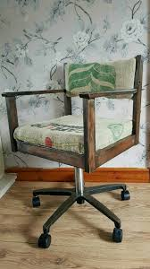 industrial bespoke up cycled vintage office chair in stoke on