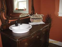 Repurposed Bathroom Vanity by Repurposed Dresser Into Bathroom Vanity Digs A Bed Fit Fora King