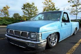 lifted nissan hardbody slammed nissan hardbody at droptout truck show canton oh aug
