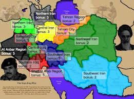 map iran iraq the iran iraq war map