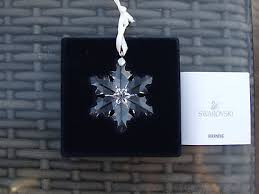 swarovski snowflakes collection on ebay
