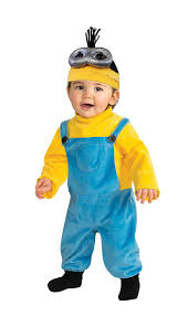 minion costume rubie s baby boys minion kevin romper costume yellow
