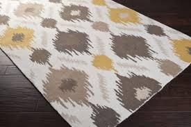 White And Gray Area Rug Yellow Gray Area Rug Moroccan Trellis Modern Grayyellow 9 Ft X 12