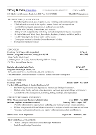 Paralegal Resume Examples by Immigration Paralegal Resume