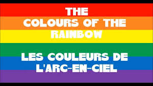 Couleurs En Anglais Francais The Colours Of The Rainbow Les Couleurs De L Arc En Ciel En