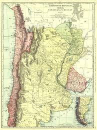 Parana River Map Maps Antique Country Argentina