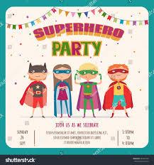 Discover Card Invitation Superhero Kids Boys Card Invitation Stock Vector 481697590