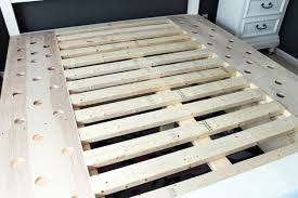 How To Build A Simple King Size Platform Bed by Farmhouse King Size Bed With Storage Pretty Handy
