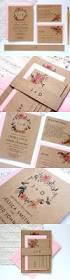 cheap halloween wedding invitations kraft wedding invitation with pink floral wreath by paper bound